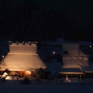 Spectacular Winter Night Miyama, Kyoto