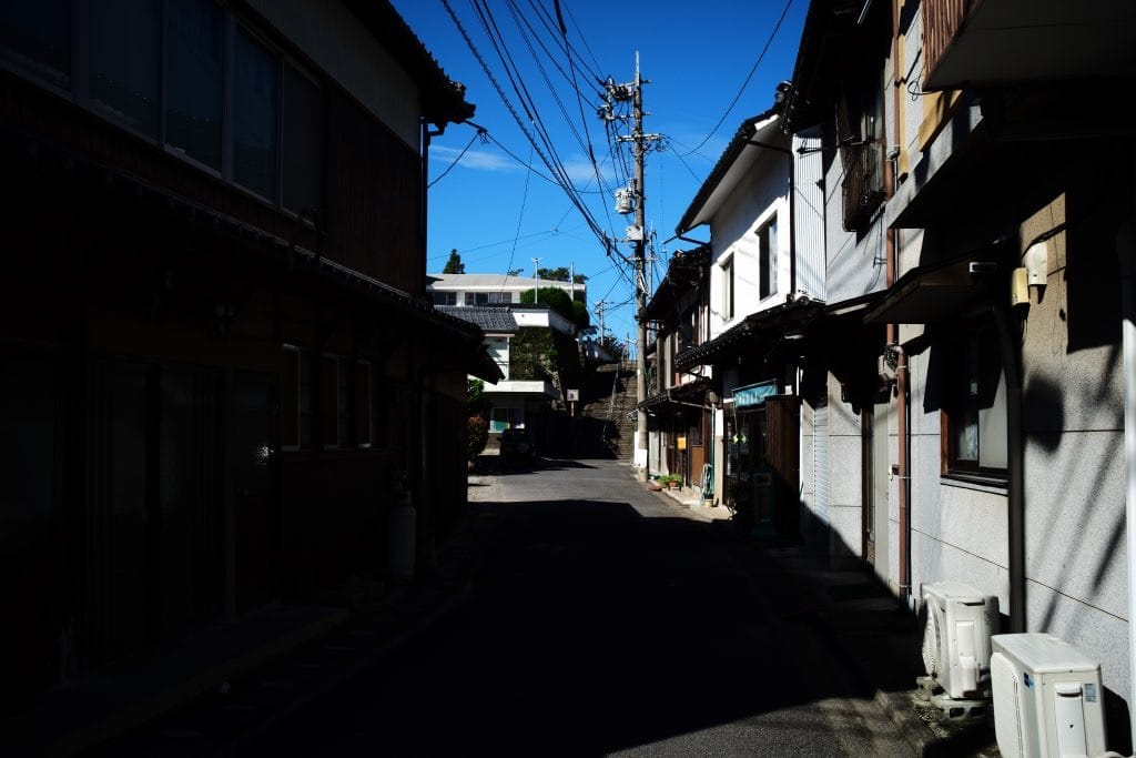 The street around the Etsu soba resturant