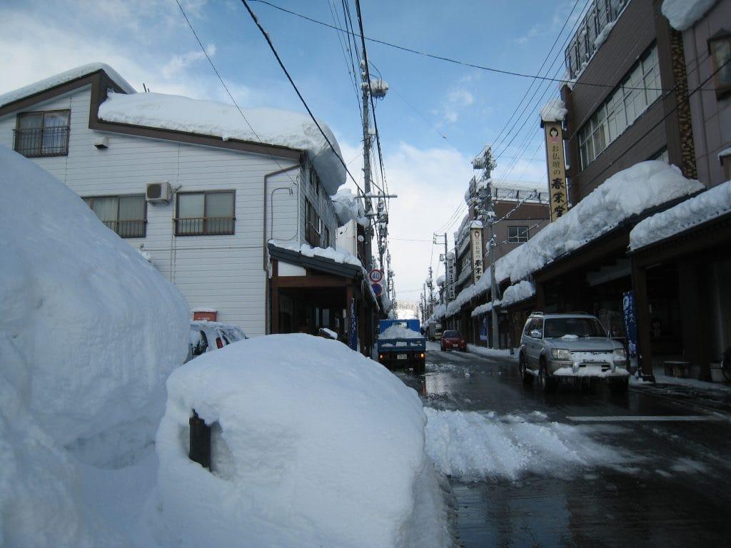 Snow Winter day at Iiyama, Nagano