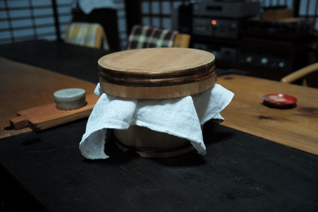 Ohitsu, Ceder wood Rice container