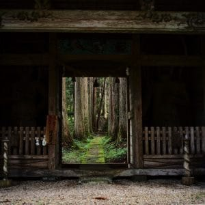 Kinpo Shrine in quiet
