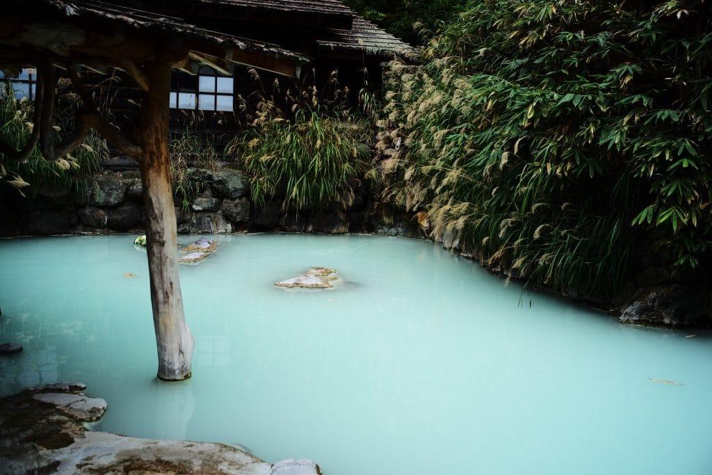 Rotenburo, open air bath