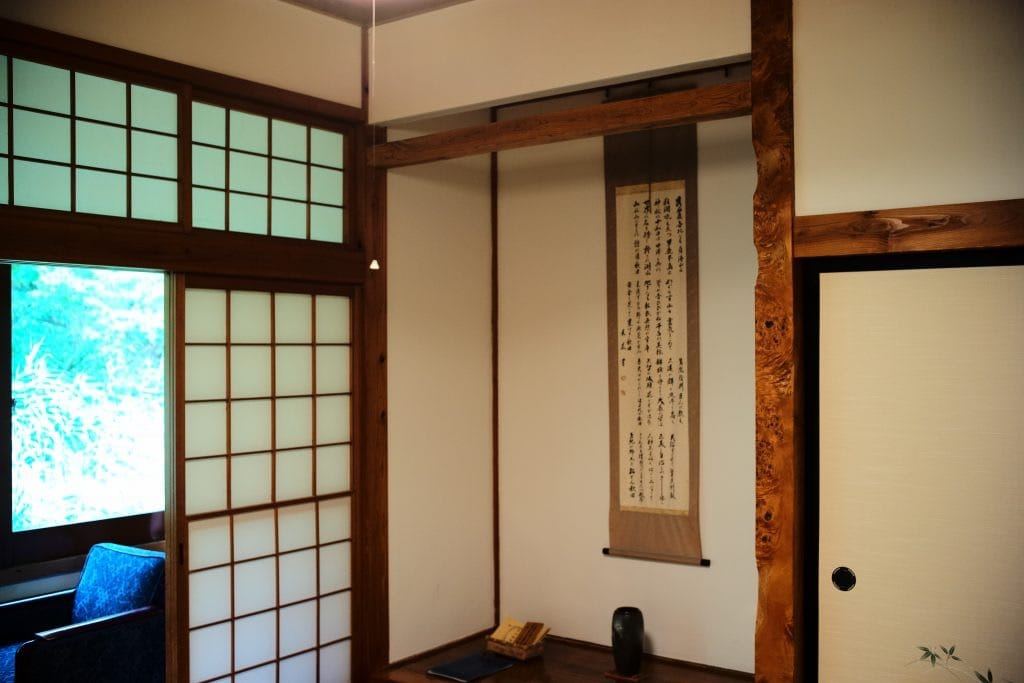 Tokonoma, alcove in a traditional Japanese room