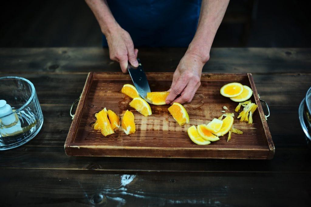 Cutting Orange Cooking Orange Jam, Akitzno, Wakayama