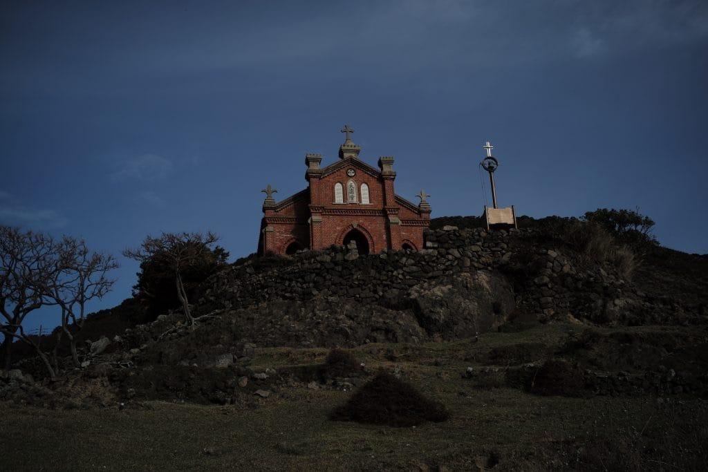 Church standing in Ruin, Nokubi Settlemet in Nozaki Island, Nagasaki