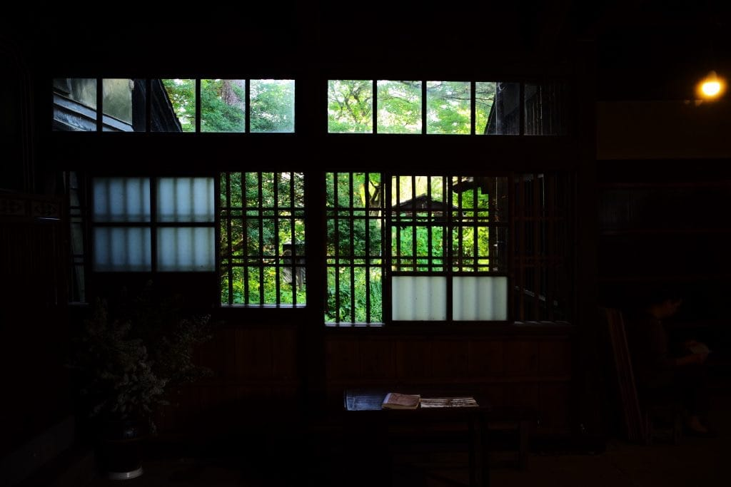Looking room to Garden , Samurai House, Ishiguro-ke at Kakunodate, semboku, Akita