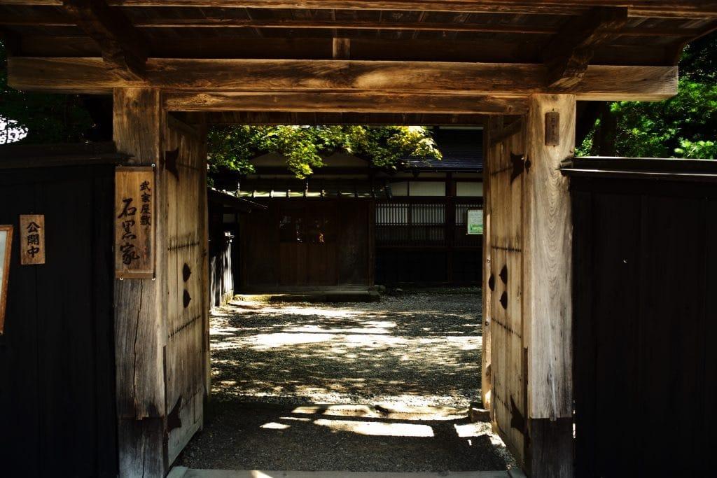 Gate, Samurai House, Ishiguro-ke at Kakunodate, semboku, Akita