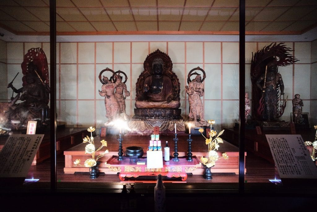 Photos shuttered from outside Maki Odo is a must-visit location for Buddha figure fanatics.