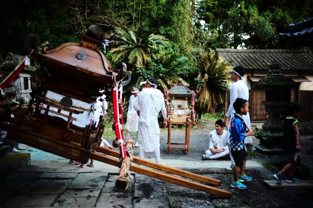 Omikoshi arrived at the main shrine
