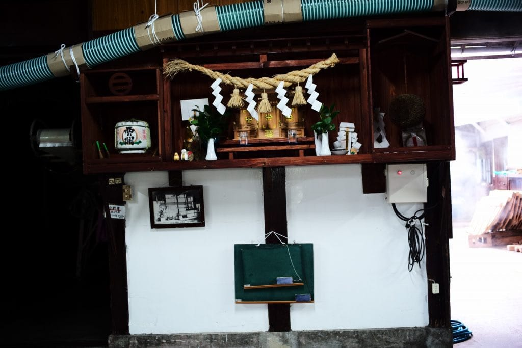 House Shrine in Japanese sake Brewery in NishiNoSeki