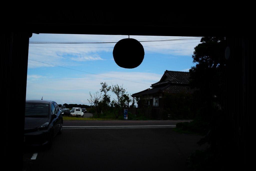 Sugi-dama ball and blue sky Japanese Sake Brewer